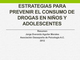 Estrategias para prevenir el consumo de drogas en