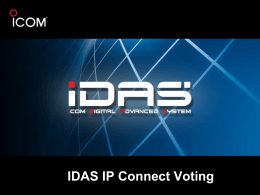 Presentacion de IDAS_IP Connect Voting