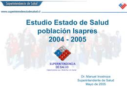 (SF- 36 v.2). - Superintendencia de Salud