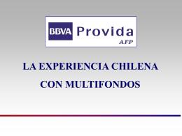 """""""La Experiencia Chilena con Multifondos""""."""
