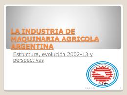 PPT, 2.58MB - Cámara Argentina de Fabricante de Maquinaria