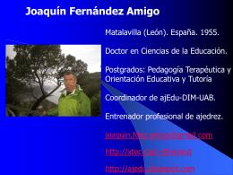 Dr. Joaquín Fernández Amigo - DIM-UAB