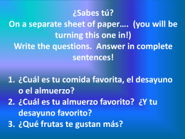 ¿Qué comes? - Cobb Learning