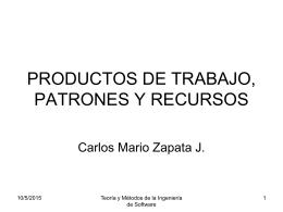 productos de trabajo, patrones y recursos