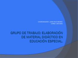 GRUPO DE TRABAJO: ELABORACIÓN DE MATERIAL DIDÁCTICO