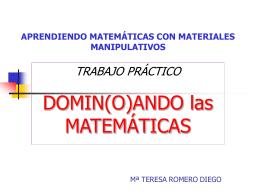 Dominós de Teresa Romero - matematicas Ricardo Vazquez