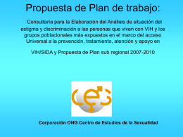 Propuesta de Plan de trabajo: Consultaría para la Elaboración del