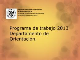 Programa de trabajo 2013-1