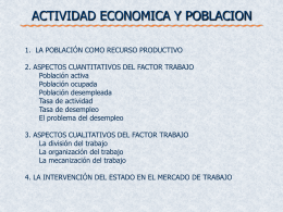 2. aspectos cuantitativos del factor trabajo