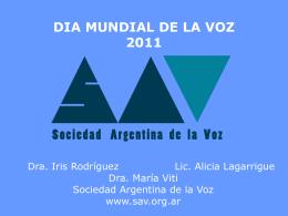Diapositiva 1 - Sociedad Argentina de la Voz