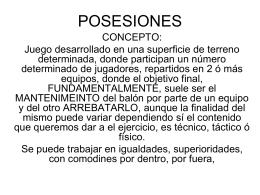 POSESIONES