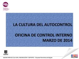 Fomento a la Cultura del Autocontrol