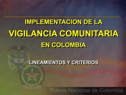 implementacion vigilancia comunitaria