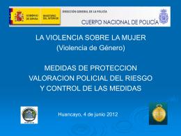 LA VIOLENCIA SOBRE LA MUJER MEDIDAS DE PROTECCION D