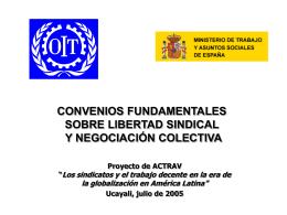 convenios fundamentales sobre libertad sindical y
