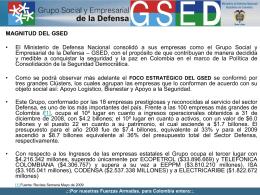 Magnitud del GSED