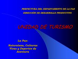 UNIDAD DE TURISMO La Paz