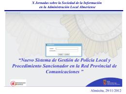 Nuevo Sistema de Gestión de Policía Local y Procedimiento