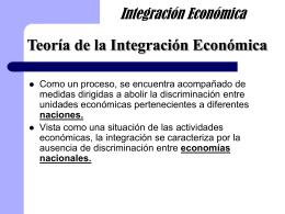 Teoría de la Integración Económica