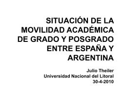 Julio Theiler - Universidad Nacional del Litoral - RedCIUN