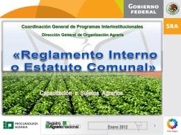 Reglamento Interno - Procuraduría Agraria