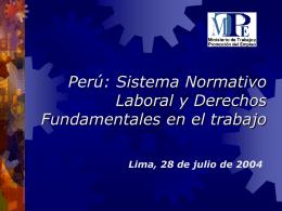 Sistema Normativo Laboral y Derechos