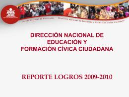 logros 2009-2010 consolidado - JNE