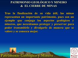 Patrimonio Ecológico y Minero & Cierre de Minas