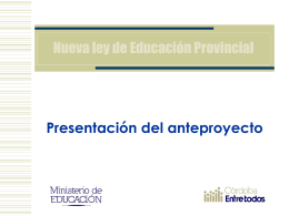 Presentación Anteproyecto De Ley De Educación
