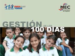 informegestion-mec-100dias - Ministerio de Educación y Cultura