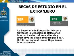 PROGRAMAS Y BECAS PARA MEXICANOS EN EL EXTRANJERO