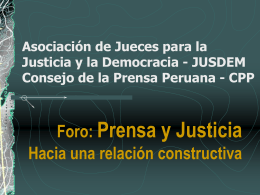 problemas a afrontar - Consejo de la Prensa Peruana