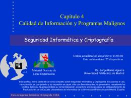 Calidad de Información y Programas Malignos