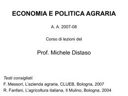 Economia dell`azienda agraria