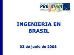 Ingeniería en Brasil - Chilexporta Servicios