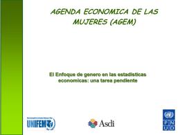 El enfoque de género en las estadísticas económicas: una