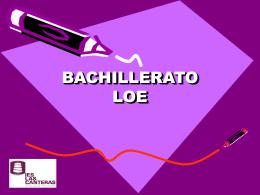 BACHILLERATO LOE - IES Las Canteras