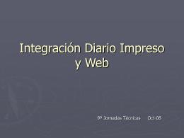 Integración Diario Impreso y Web