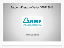 Diapositiva 1 - SAMF Sociedad Argentina de Marketing Farmacéutico