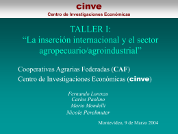 Presentación Taller I - CAF - Cooperativas Agrarias Federadas