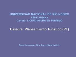 UNIVERSIDAD NACIONAL DE RÍO NEGRO SEDE ANDINA Carrera