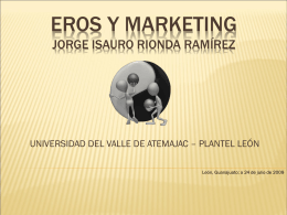 EROS Y MARKETING Jorge isauro rionda ramírez