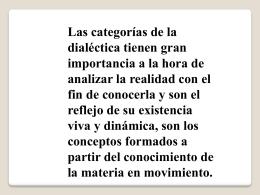 Teoria del conocimiento dialectico 1