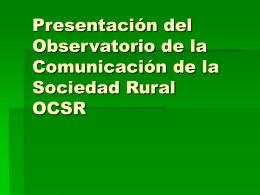 OCSR - agropres