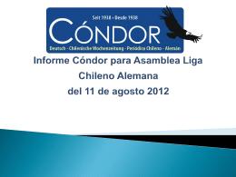 Informe Cóndor para Asamblea Liga Chileno Alemana del 11