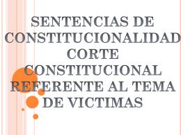 sentencias de la corte constitucional.