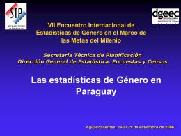 LAS ESTADÍSTICAS DE GÉNERO EN PARAGUAY