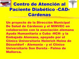 Centro de Atención al Paciente Diabético -CAD-