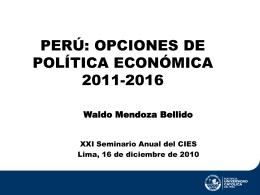 Opciones de política económica 2011-2016