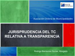 Jurisprudencia TC - Asociación Chilena de Municipalidades